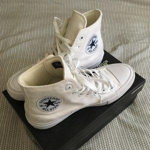White Converse Chuck Taylor II High Top 7